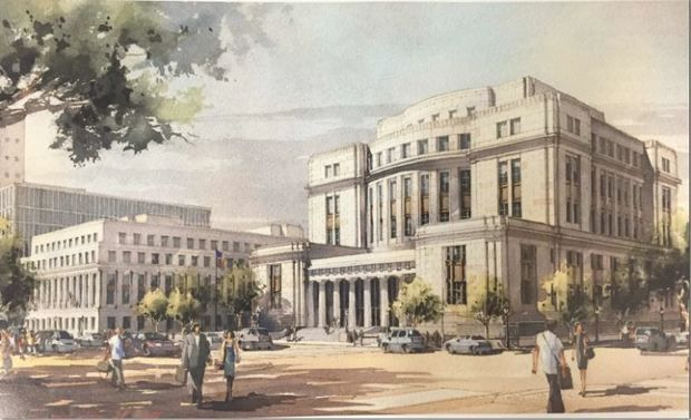 This is an artist's rendering of what a new federal courthouse will look like in downtown Mobile, which will become the new Bankruptcy Court. Photo courtesy U.S. District Court.